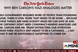 Must-Reads: Why Carson's Nazi talk matters