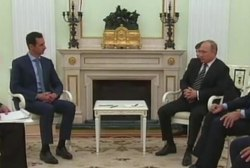 Surprise meeting for Putin and Assad