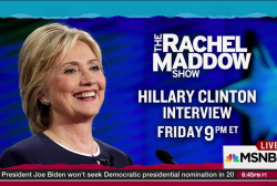 Clinton interview first after 2 epic events