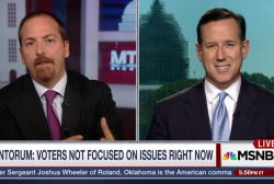 Santorum Condemns 'Entertainment' Campaign