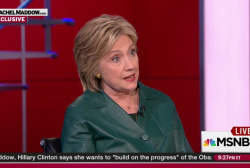 Clinton sees value in (some) investigations