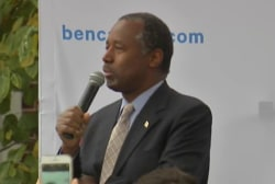 Carson hit for use of slavery, Nazi imagery