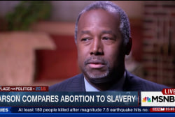 Carson compares abortion to slavery
