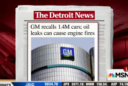 GM recalling 1.4 million cars