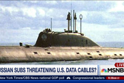 Russian submarines threaten US data cables