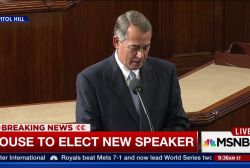 Boehner: 'I leave with no regrets, no...