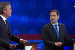 Rubio and Bush spar over Senate votes