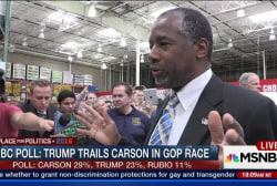NBC Poll: Trump trails Carson in GOP race