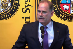 University of Missouri president resigns