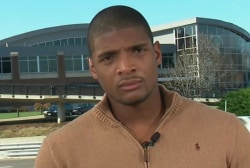 Michael Sam on U. of Missouri pres. resigning