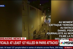 Video shows people trying to flee Paris...