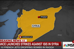 French jets drop bombs in Raqqa, Syria