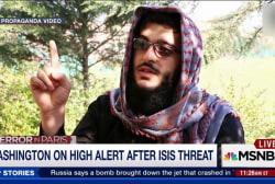 Washington on high alert after ISIS threat