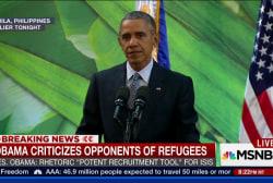 Pres. Obama comments on Syrian refugee debate