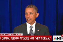 Obama: Terror attacks not 'new normal'