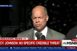 Jeh Johnson: 'no specific credible threat'...