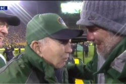 Brett Favre honored at halftime