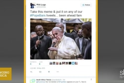 #Popebars trends on Twitter