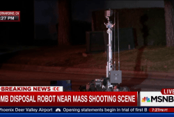 San Bernardino: Bomb disposal robot on scene