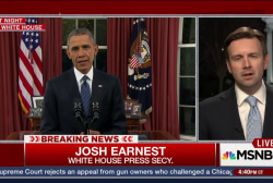 Obama Seeks to Calm Jittery Nation