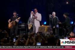U2, Eagles of Death Metal perform in Paris