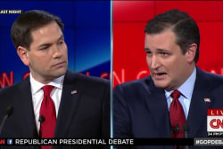 GOP candidates split on nation building