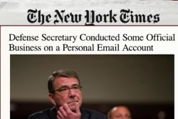 Defense secretary used personal email on job