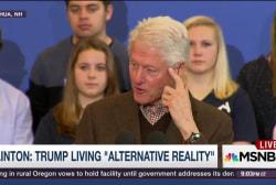 Clinton: Trump living in 'alternative...