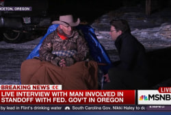 Armed Oregon protester talks to MSNBC