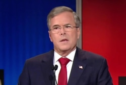Bush slams Hillary Clinton at GOP debate