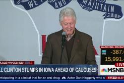 Bill Clinton stumps in Iowa ahead of caucuses