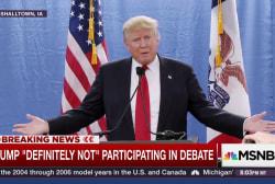 Trump 'definitely not' doing GOP debate