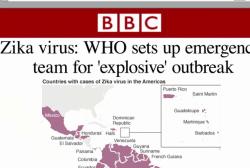 Zika 'spreading explosively,' says WHO