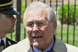 Donald Rumsfeld creates Solitaire mobile app