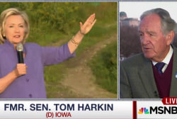 Harkin Expects 'Solid' Clinton Win in Iowa