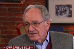 Harkin makes case for Clinton on caucus day