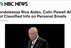 Powell, Rice also have classified info on...