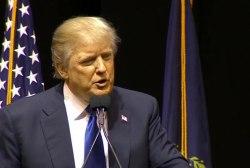Trump commands pre-primary 'rock concert'