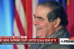 Passing of Scalia shocks Supreme Court