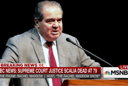 Scalia passing 'as big a jolt as we can get'