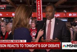 Carson calls debate mudslinging immature