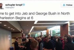 Jeb has biggest campaign turnout yet