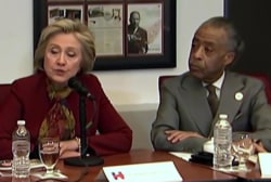 Clinton meets with civil rights leaders