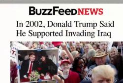 Trump's 2002 Iraq invasion remarks return