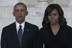 Obama pays his respects to Justice Scalia