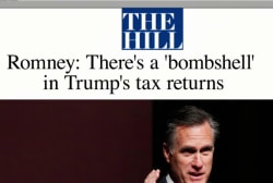 Romney challenges Trump to release tax...
