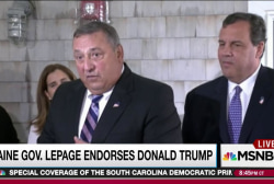 LePage follows Christie to endorse Trump