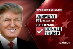 Trump apparent winner in VT: NBC News