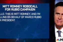 Romney records robocall for Rubio campaign