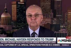 Gen. Hayden: Trump's 'repulsive' on torture